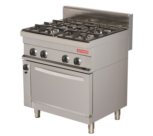 Arisco Heavy Duty 4 Burner LPG or Gas Range Cooker With Electric Oven