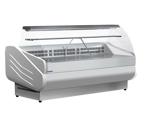 Prodis M300 Milano Curved Glass Deli Serve Over Counter 498  Litre - Made In Italy