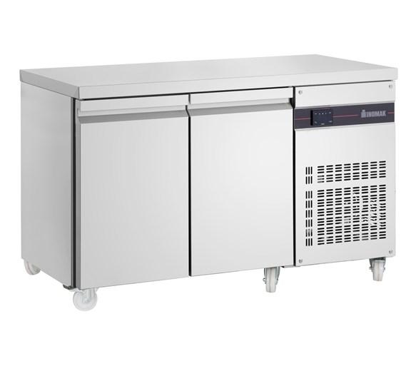 Inomak Slimline Refrigerated 2 Door 225 Litre Prep Counter SL99-ECO with Castors
