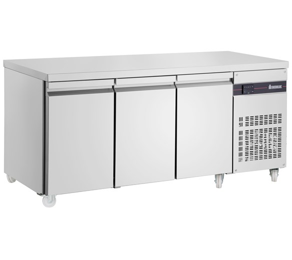 Inomak Refrigerated 3 Door 429 Litre Prep Counter with Castors PN999-ECO