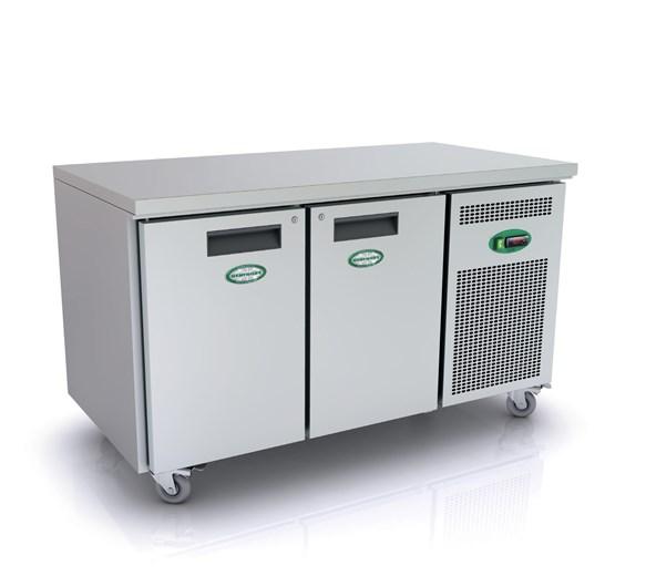 Genfrost 2 Door Freezer Prep Counter 600mm Deep