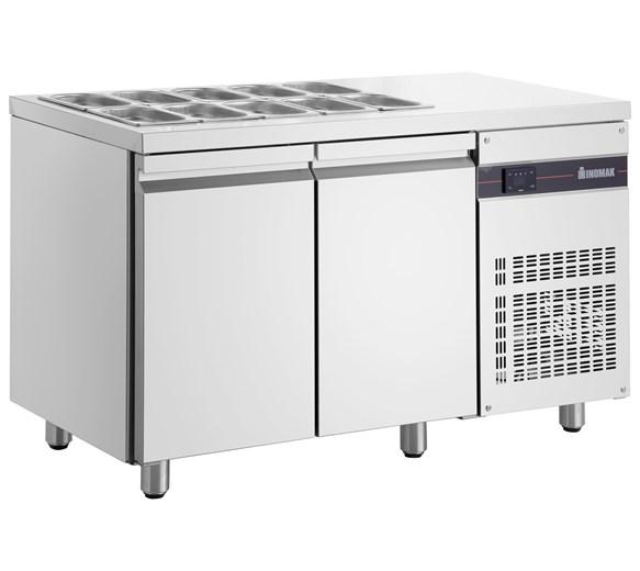 Inomak ZNN99 2 Door Refrigerated Saladette 274 Litre Capacity Gastronorm