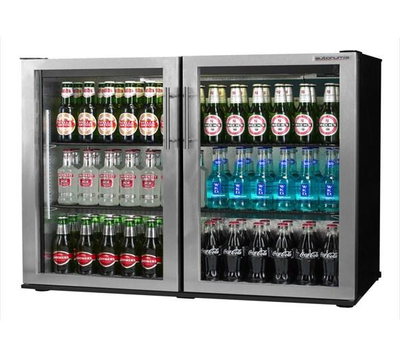 Autonumis Maxi Stainless Steel Double Hinged Door Bottle Cooler 2 Year Warranty