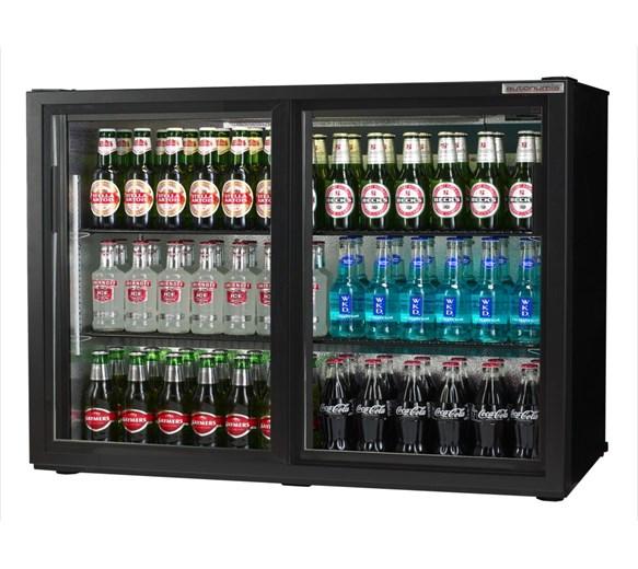 Autonumis Maxi Black Sliding Double Door Bottle Cooler with 2 Year Warranty