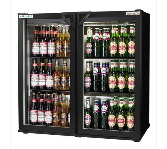 Autonumis EcoChill Black Hinged Double Door Bottle Cooler with 2 Year Warranty