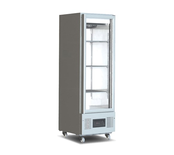 Foster 400 Litre Slimline Upright Glass Door Fridge FSL400G
