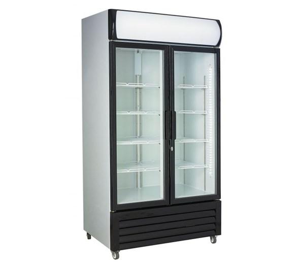 Combisteel 670 Ltr Glass Double Door Fridge With Canopy