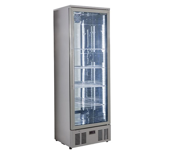 Genfrost Commercial Glass Door Display Fridge in Stainless Steel GBB300SS