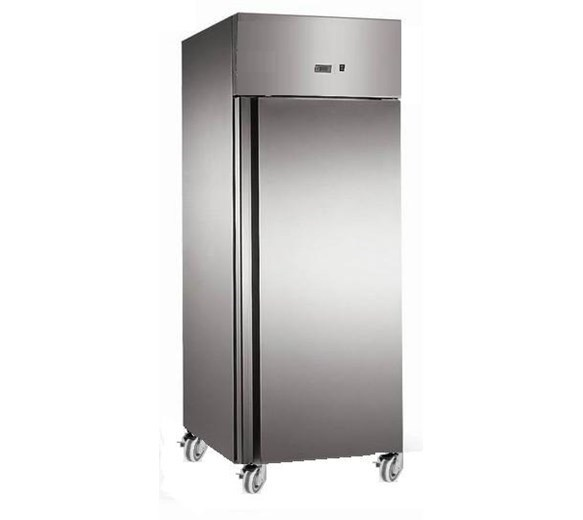 Gastroline 600 Litre Stainless Steel Single Door Catering Fridge With Castors
