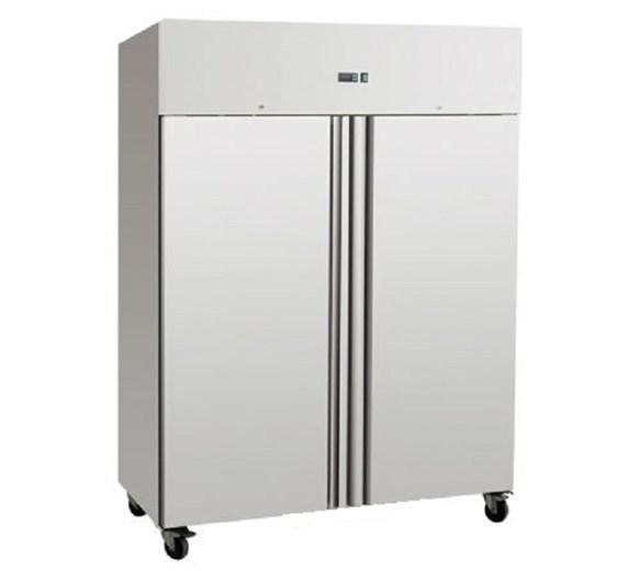 Gastroline 1200  Litre Double Door Stainless Steel Refrigerator On Castors