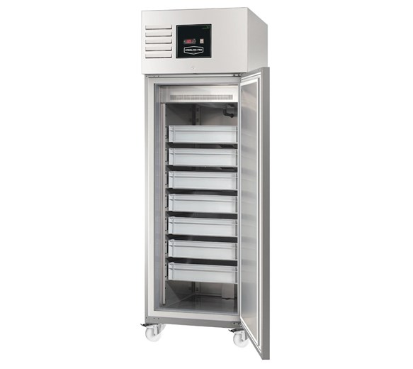 Sterling Pro Fish Keeper Fridge. 7 Trays, Stainless Steel, Fitted Castors