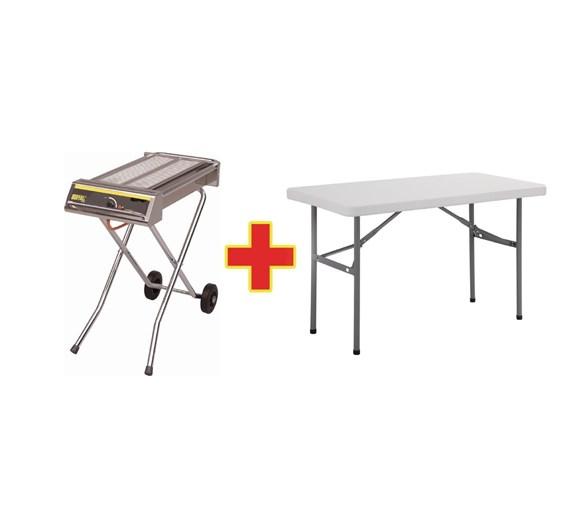 Buffalo Folding Gas Barbecue And Free Folding Table