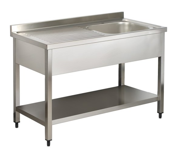 Italinox Premium 1000mm Single Bowl Stainless Steel Sink with Left Hand Drainer
