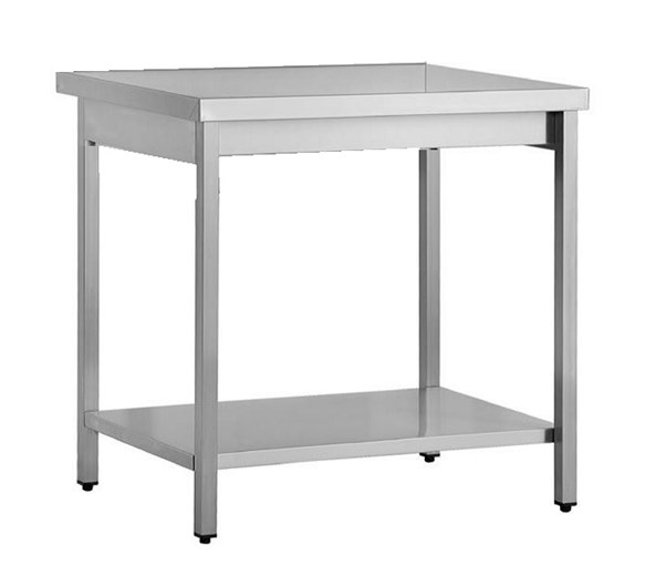 1000mm Wide Stainless Steel Centre Bench with Square Legs