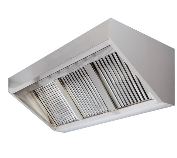 1500mm Wide Commercial Wall Mounted Extractor Hood Canopy with Grease Filters