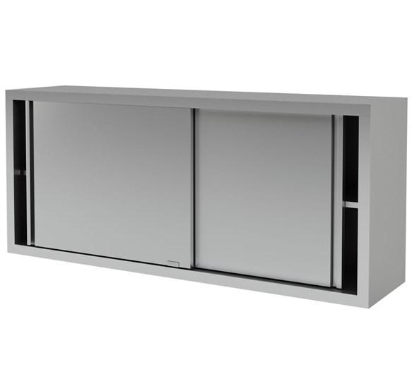 Italinox Wall Cupboard - Cabinet Stainless Steel - Sliding Doors - 1000mm Wide