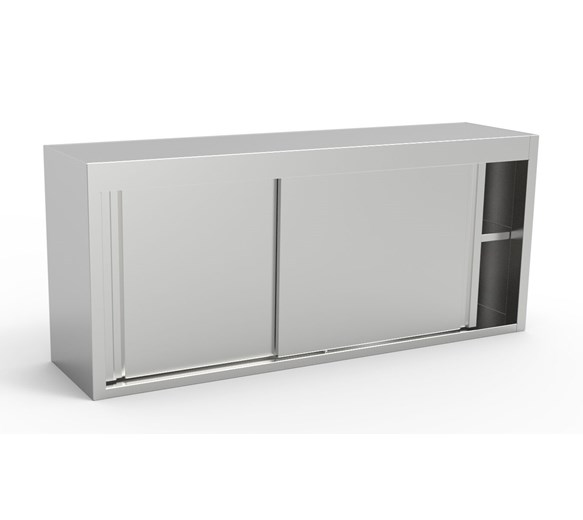 Inomak Stainless Steel Wall Mounted Storage Cupboard ET314A 1400mm Wide