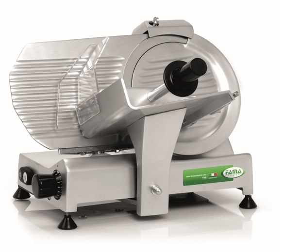 FAMA 250mm 10 inch Eco FAF253D Commercial Catering Gravity Slicer - Made In Italy