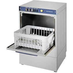 Italinox Arisco 400mm Basket Glasswasher + Drain Pump. BW1200P