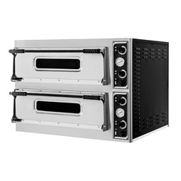 "Italinox Twin Deck Single Phase Electric Pizza Oven 8x13"" Pizzas Basic Medium 44"