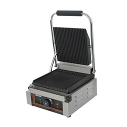 Blizzard 1800W Single Contact Grill Top & Bottom Ribbed