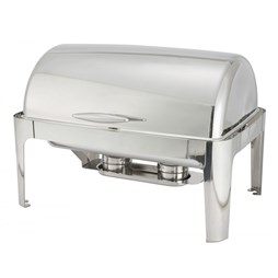Stainless Steel Roll Top Chafing Dish Full Size 1-1 GN 9 Litre Capacity