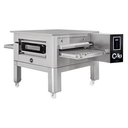 Italinox Prisma 20 inch Belt Natural Gas Conveyor Pizza Oven C/50 + Free Stand