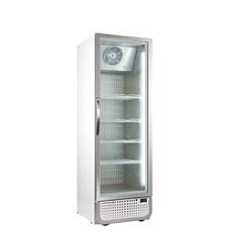 Husky 364 Litre PRO Single Glass Door Display Freezer White Retro Style