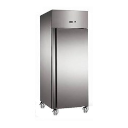 Gastroline 600  Litre Stainless Steel Single Door Catering Freezer With Fitted Castors