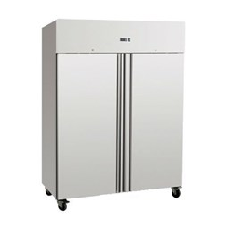 Gastroline 1200 Litre Double Door Stainless Steel Freezer Static Cooling