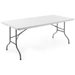 Quattro Foldable Trestle Table for Party Events Rectangular 6ft 1830mm in White
