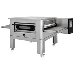 "Italinox Prisma 26"" Belt Natural Gas Conveyor Pizza Oven C/65 With Free Stand"