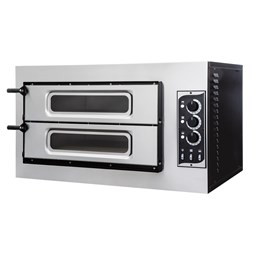 "Italinox Mini Twin Deck Single Phase Electric Pizza Oven 8 x 10"" Pizzas"