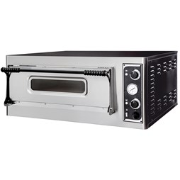 """Italinox Prisma Basic 6 x 13"""" Pizza Oven Single Deck Electric - Made In Italy"""