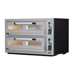 Italinox MK602 Twin Deck 3 Phase Electric Pizza Oven. 12 x 12 Inch Pizzas