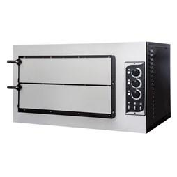 Italinox Prisma Forno Basic 2-50 3T Mini Twin Deck Electric Pizza Oven. 8 x 10 inch Pizzas - Made In Italy