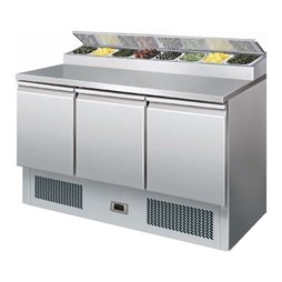 Reconditioned Gastroline PS300 Refrigerated Salad Pizza Prep Counter