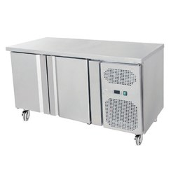 Gastroline 2 Door Refrigerated Prep Counter 700mm Deep With Castors