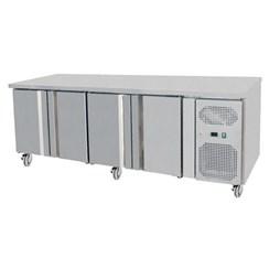 Gastroline 4 Door Refrigerated Prep Counter 700mm Deep With Castors