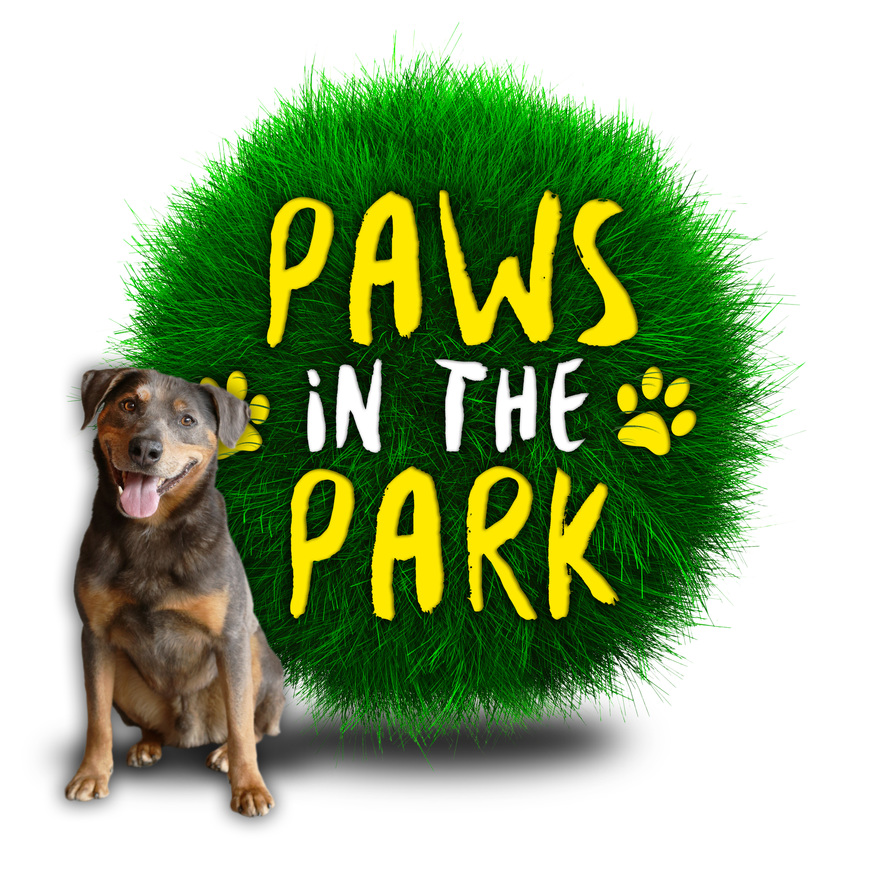 Paws in the park logo   dumble 1
