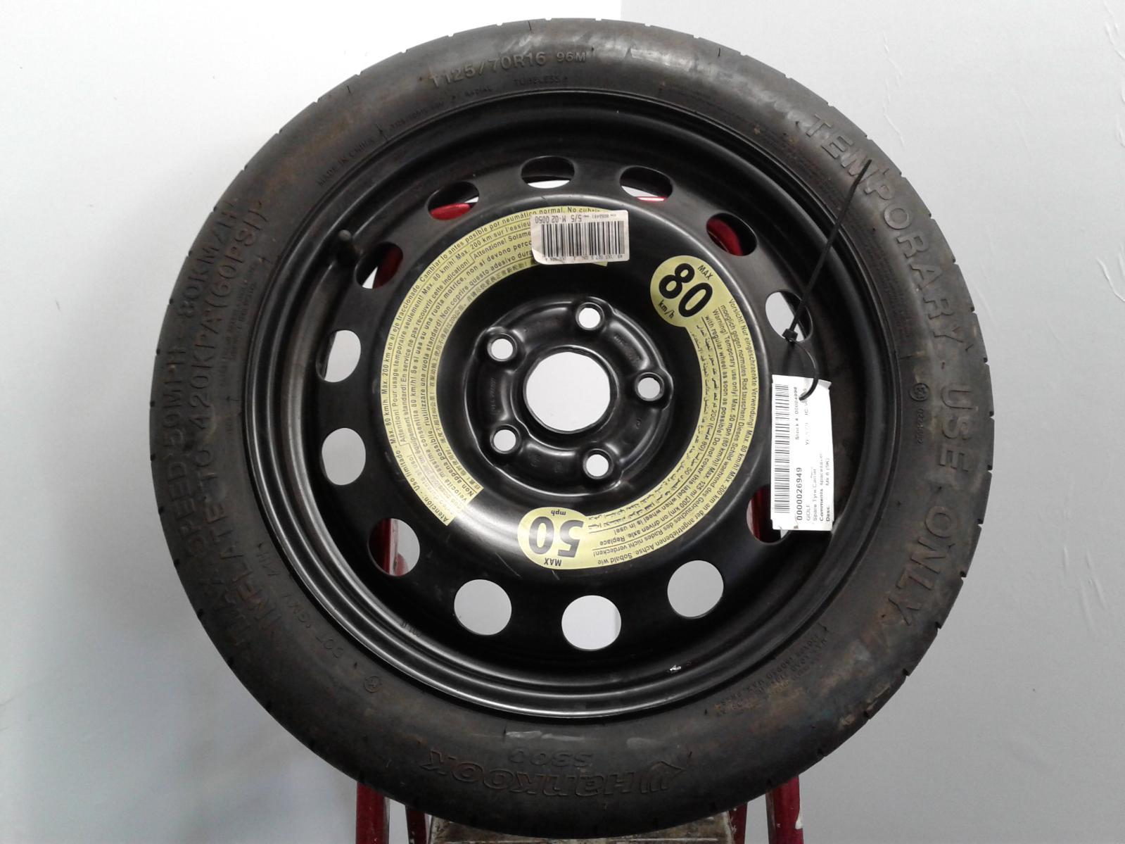 View Auto part Spare Tyre/Carrier VOLKSWAGEN GOLF 2009