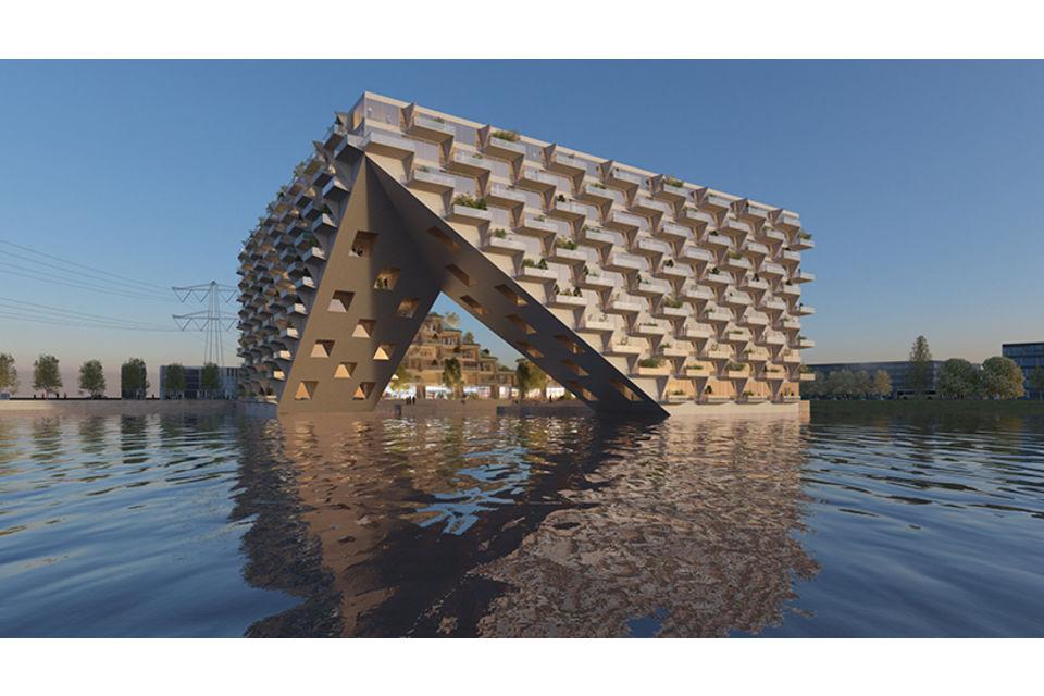 Sul lago di amsterdam 380 appartamenti a energia zero for Appartamenti amsterdam centro
