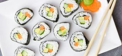4 ricette per un sushi vegetariano