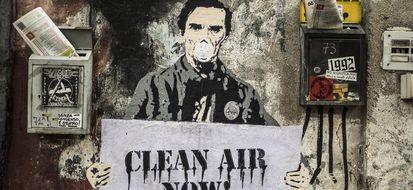 Street art contro l'inquinamento a Roma