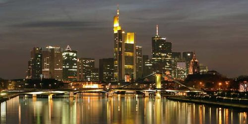 Vista del centro di Francoforte