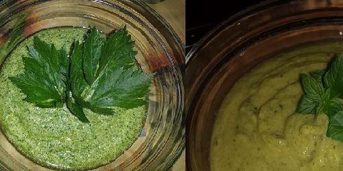 Pesto di sedano e pesto di zucchine