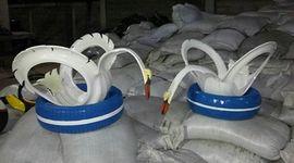 Cigni realizzati da pneumatici
