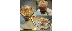 Caffè bio con panna