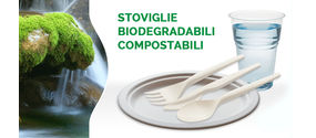 Stoviglie monouso compostabili (certificate) di altissima qualità