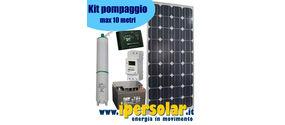 Kit fotovoltaico pompaggio acqua 90W - prevalenza max 10 mt
